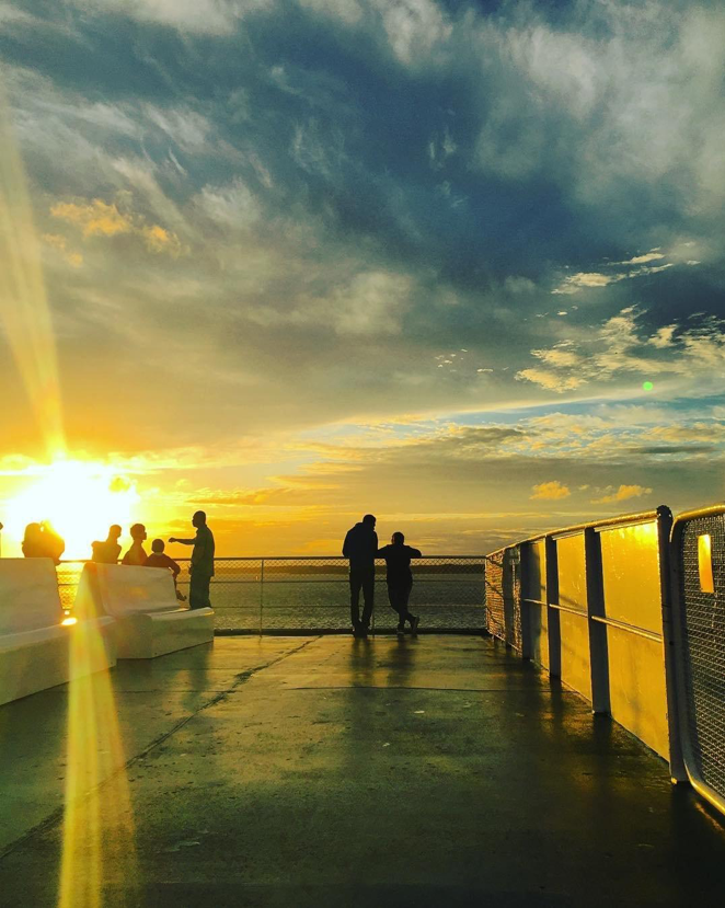 sunset-on-ferry