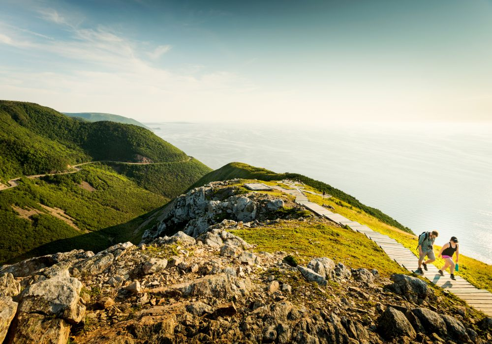 hikers at cape breton highlands